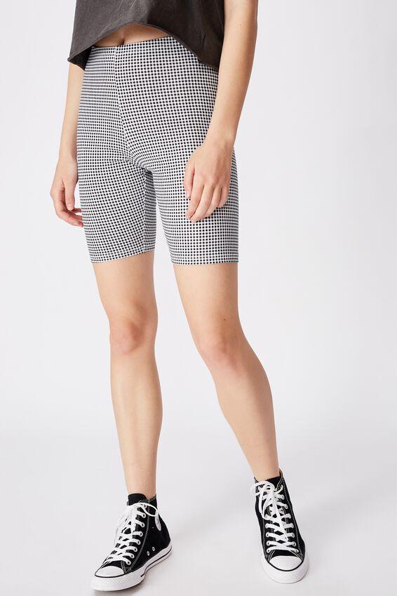 Fashion Bike Short, MINI GINGHAM_B/W
