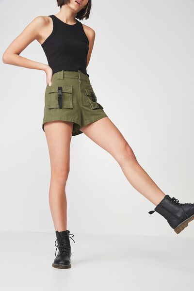 Multi Pocket Short, KHAKI