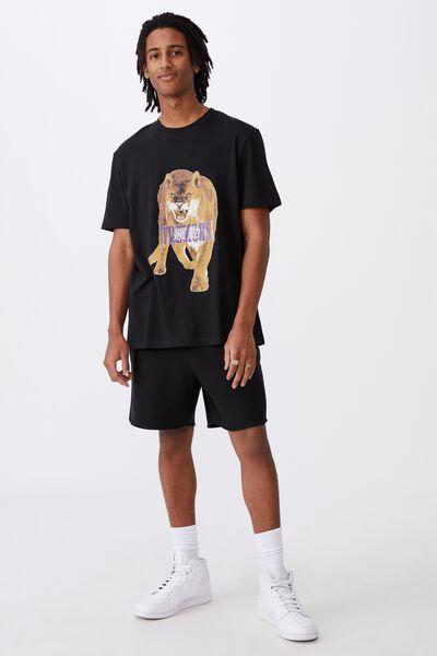 Regular Graphic T Shirt, BLACK/TREMOR