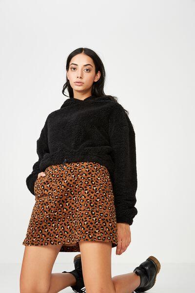 Cord Skirt, ANIMAL PRINT