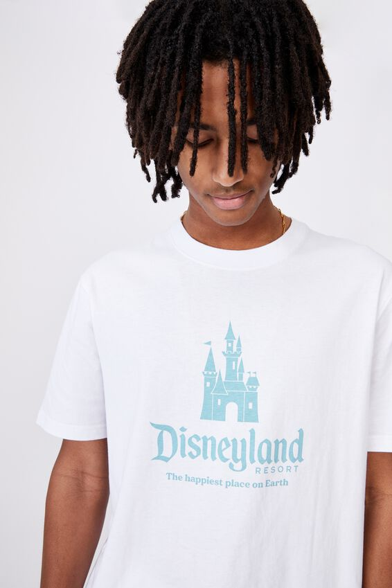 Disney License Tee, LCN DIS WHITE/HAPPIEST PLACE