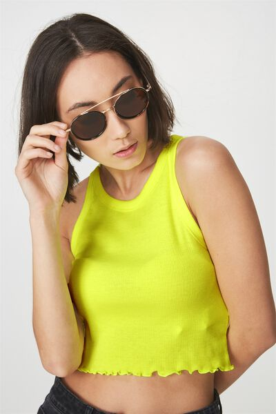 Double Rim Round Sunnies, T'SHELL