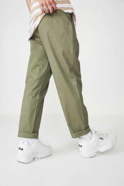 Straight Leg Pants, KHAKI