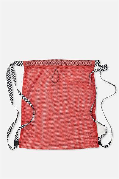 Drawstring Bakpak, RED CHECKER