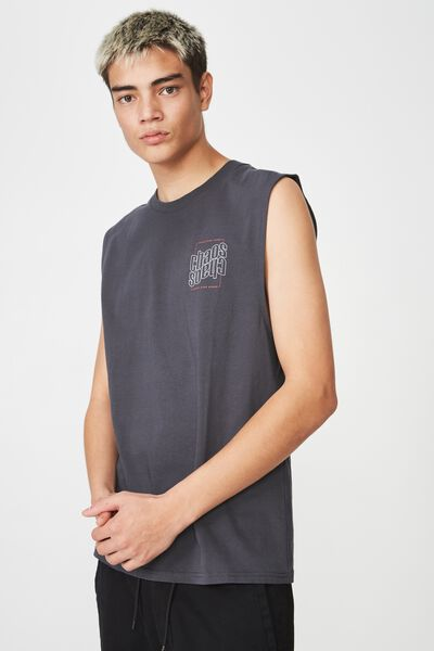 Graphic Muscle Tank, ASPHALT/DOUBLE CHAOS