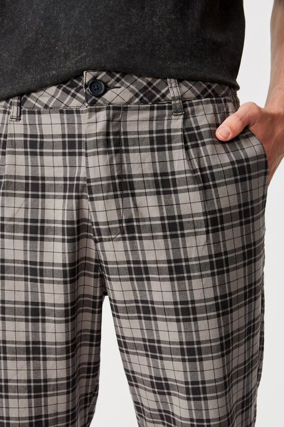 Relaxed Tapered Leg Pant, PATTON CHECK