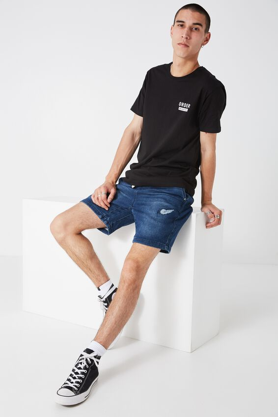 The Knit Denim Short at Cotton On in Brisbane, QLD | Tuggl