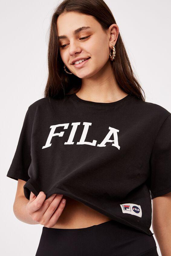 Fila Lcn Raw Edge Graphic T Shirt, BLACK/WHITE