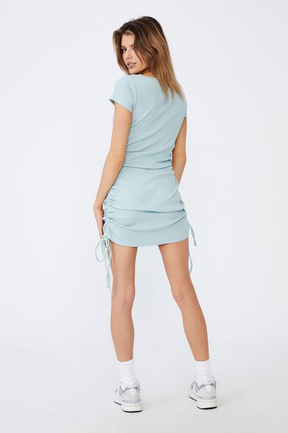 Ruched Side Rib Dress, ETHER