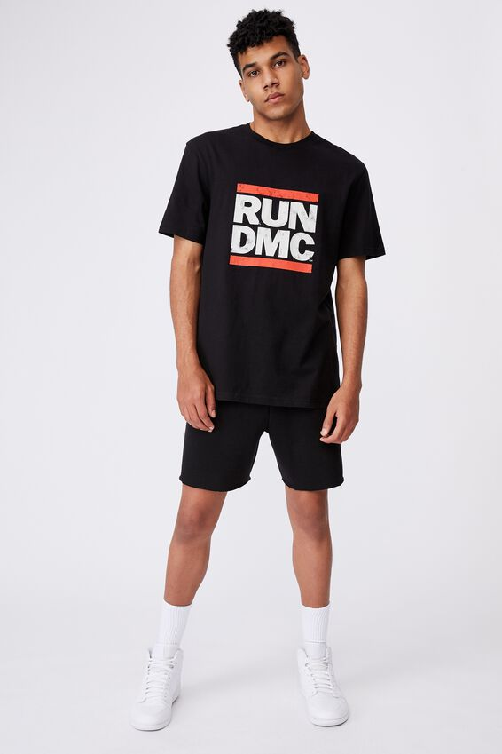 Regular Music Merch T Shirt, LCN BRA BLACK/RUN DMC