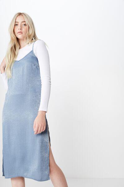 Satin Midi Dress, FLINTSTONE