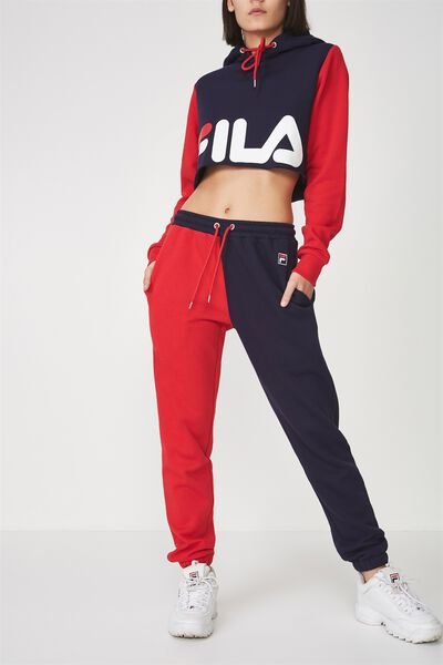 Fila Lcn Colour Block Trackpant, EVENING BLUE/LYCHEE
