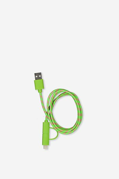 Phone Charging Cord, LIME_PINK