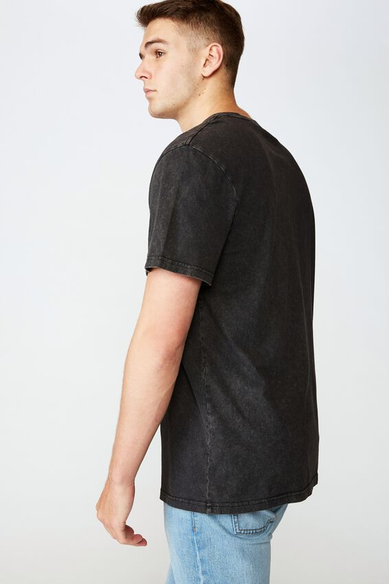 Regular Graphic T Shirt, WASHED BLACK ARIZONA