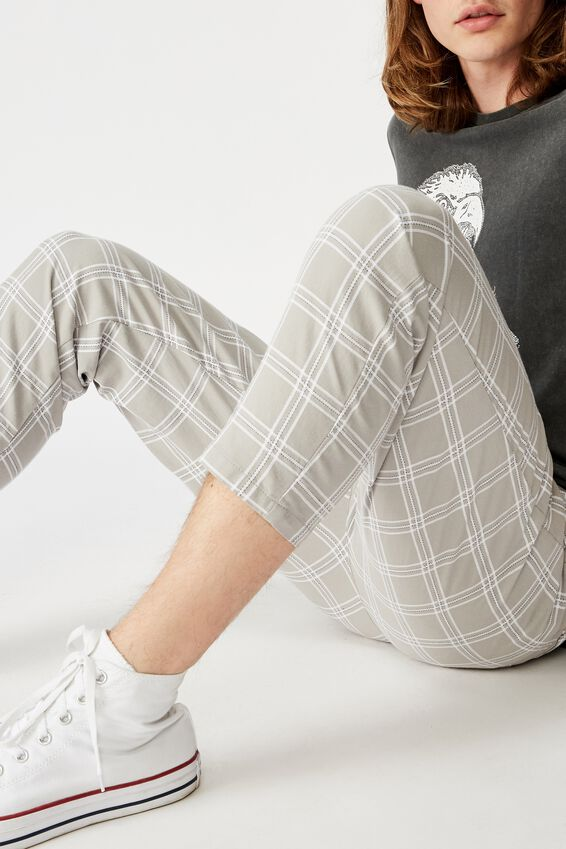 Relaxed Tapered Leg Pant, SUBLIME CHECK