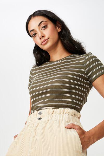c0601f44d274 Short Sleeve Rib T Shirt Stripe
