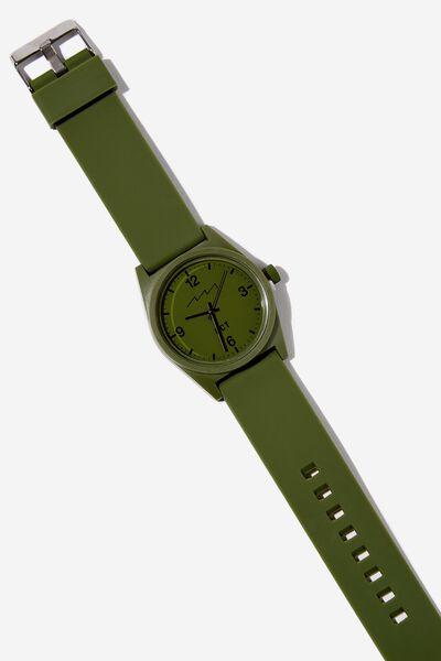 Silicone Watch, KHAKI
