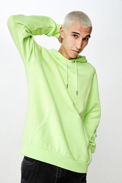 Basic Hoodie, WASHED NEON GREEN
