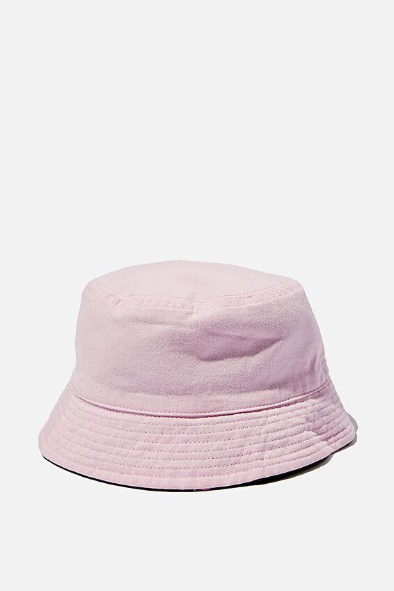 Reversible Washed Bucket Hat, WASHED PINK_FLAMINGO