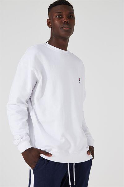 Fila Crew Sweater, WHITE