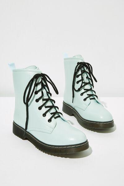 Combat Boot, PASTEL BLUE