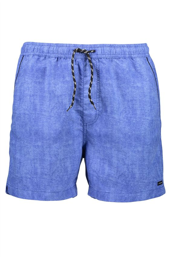 Jose Poolboy Short 2, DARK BLUE TEXTURE