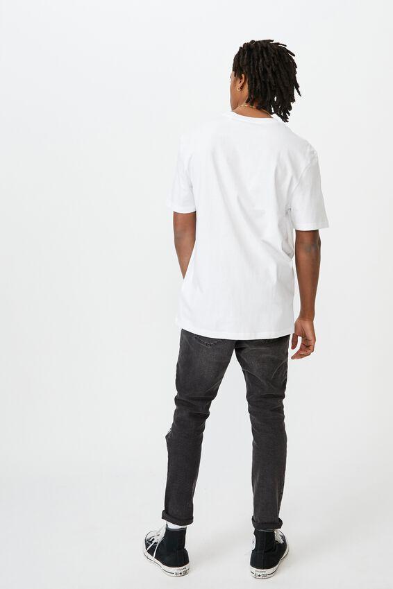 Regular License T Shirt, WHITE TSHEGO STACK