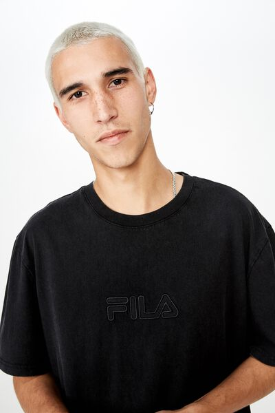 Fila Lcn Regular Washed T Shirt, WASHED BLACK