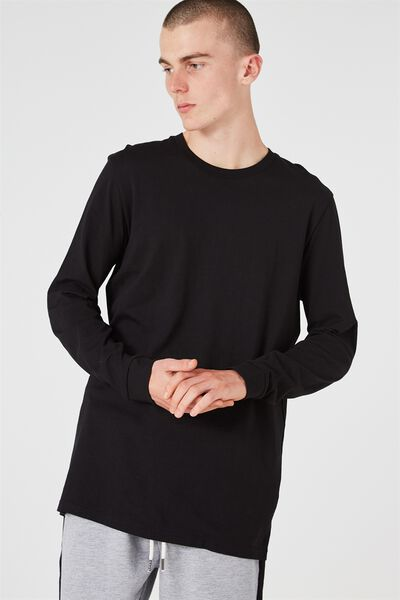 Ls Tall Tee, BLACK