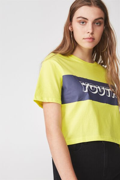 Graphic Boxy Tee, MIXED YOUTH_SULPHUR SPRING