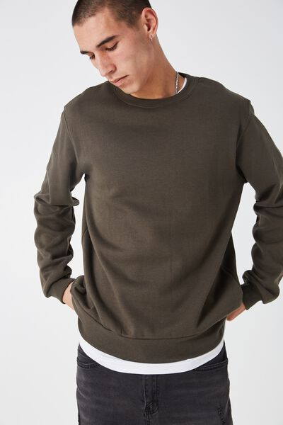 Crew Fleece, ARMY KHAKI