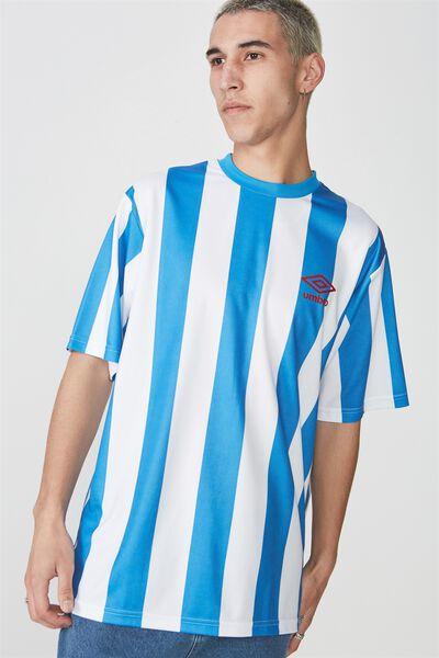 Umbro Lcn Ss Soccer Crew, UMBRO BLUE STRIPE