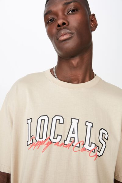 Graphic T Shirt, ALMOND/LOCALS