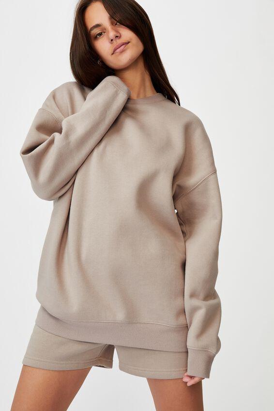 Oversized Crew Neck Sweater, ETHEREA