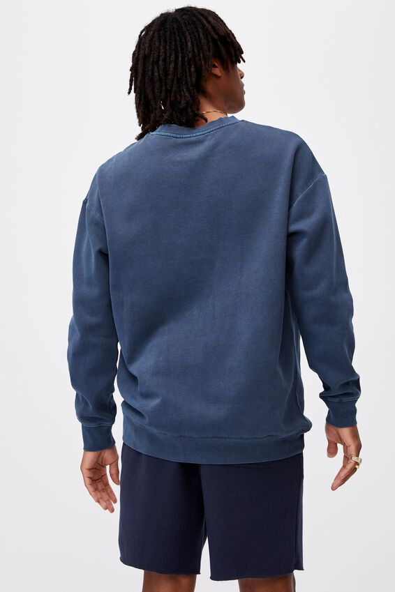 Elite Oversized Crew, WASHED INDIGO/ATLANTA