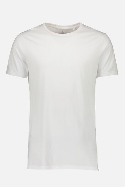 Drop Tail Tee, WHITE