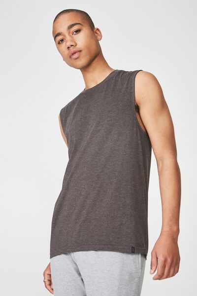 Sport Muscle T Shirt., CHARCOAL MARLE