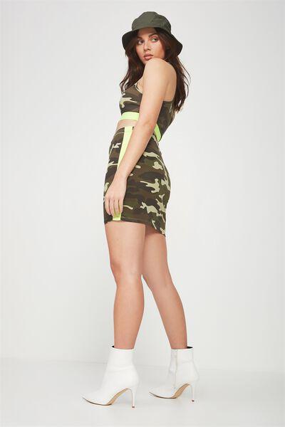 Co-Ord Tube Skirt, CAMO