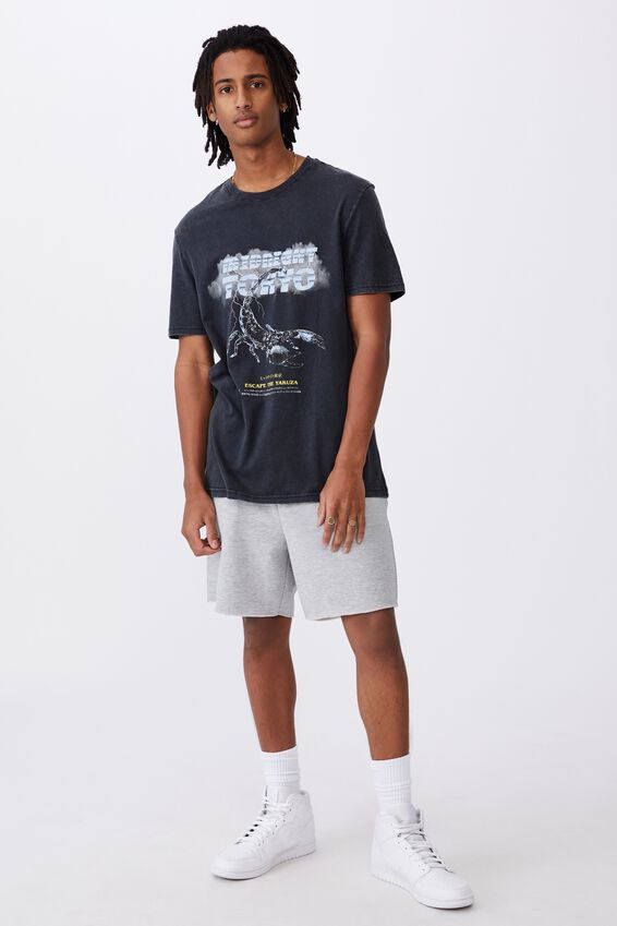 Regular Graphic T Shirt, WASHED BLACK/MIDNIGHT TOKYO
