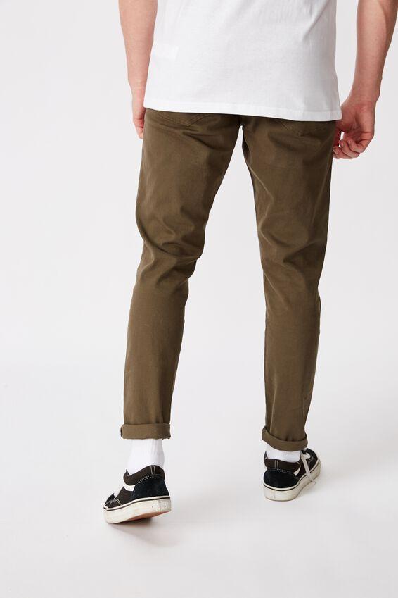 Washed Slim Leg Pant, WASHED KHAKI