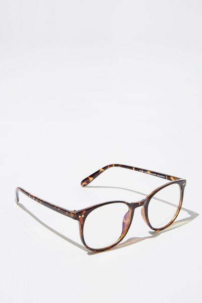 Blue Light Reader Glasses, TORT_B'LIGHT