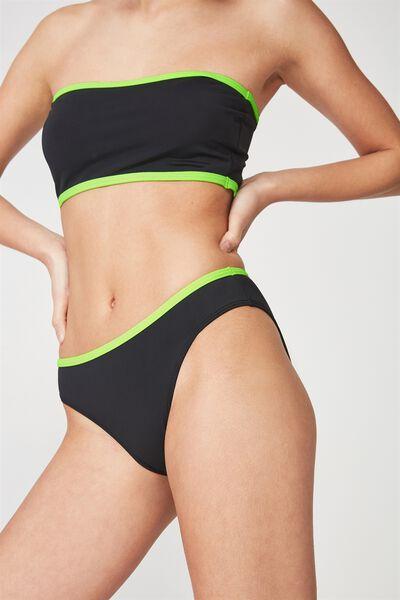 Essential Full Bikini Bottom, BLACK/NEON BIND