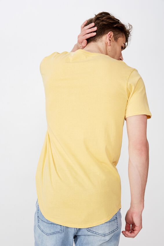 Curved Graphic T Shirt, WASHED YARROW STAGGER