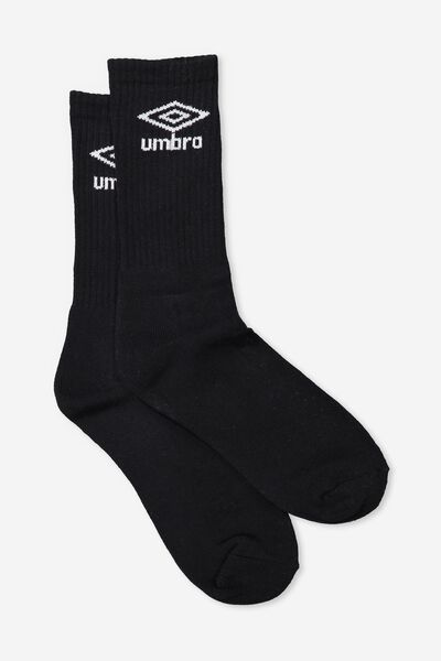 Umbro Ribbed Sock, BLACK
