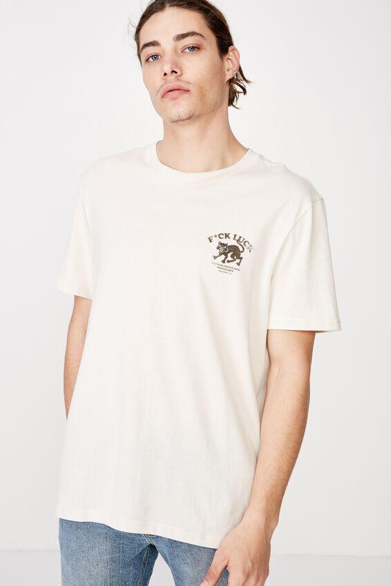 Regular Graphic T Shirt, IVORY/LUCK
