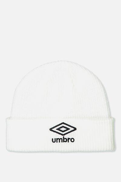 Umbro Beanie, WHITE