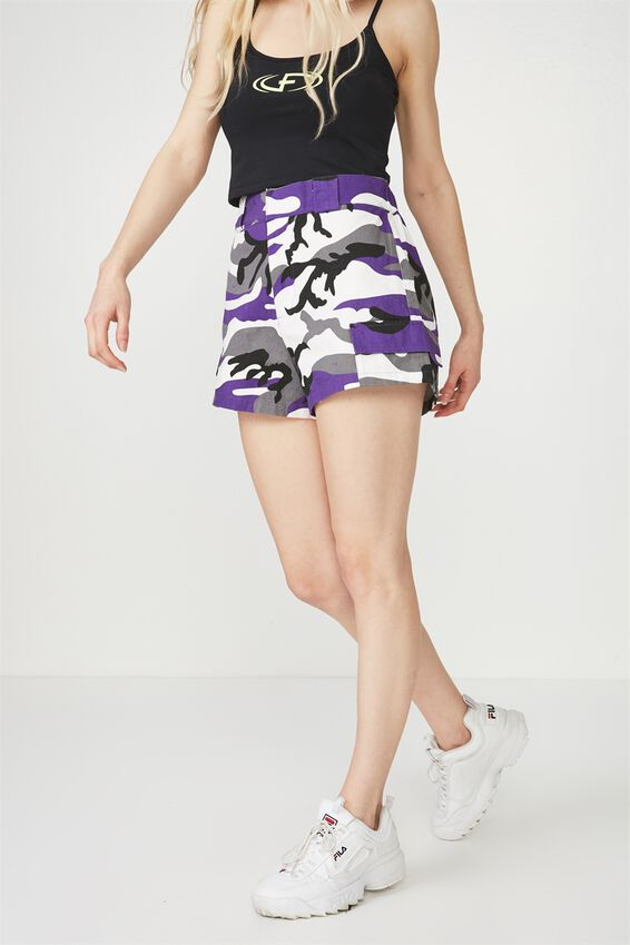 Camo Pocket Short, PURPLE CAMO