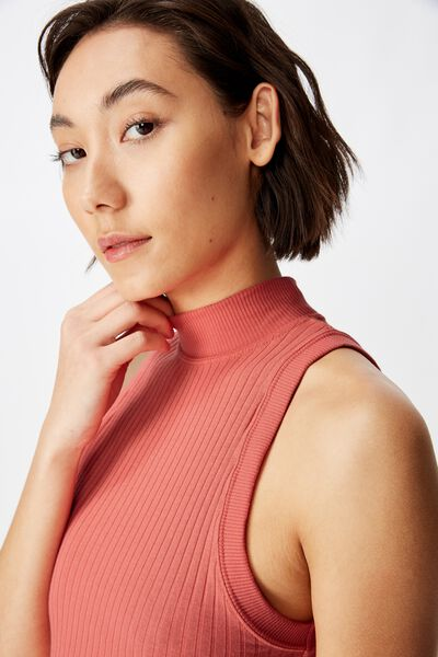 Funnel Neck Tank, SPICED CORAL