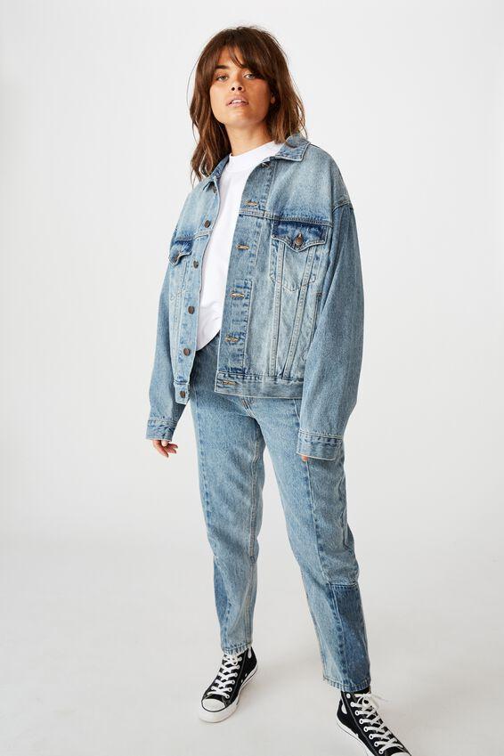 Oversized Denim Jacket, VINTAGE WASH