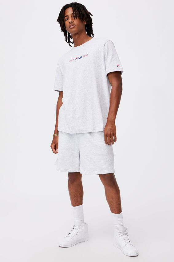 Fila Lcn International T Shirt, SILVER MARLE/EST 1911